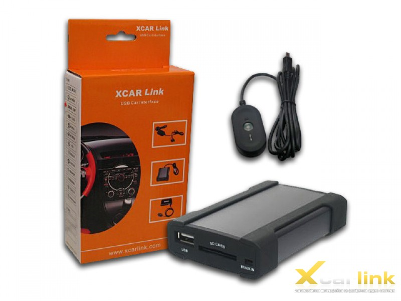 XCarLink автомобилен интерфейс за интеграция на USB, SD, AUX, Bluеtooth към автомобила